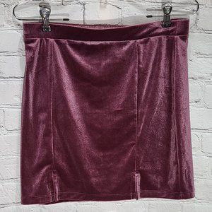Forever 21 Velvet Mini Skirt with double slits